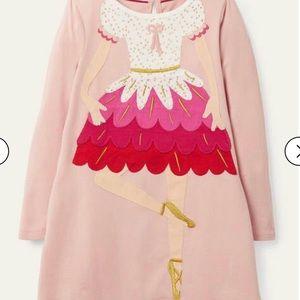 NWT mini boden Festive Appliqué Dress